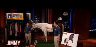 Xem Jimmy Kimmel and Guillermo Pitch Horse Pants on Shark Tank