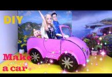 Xem DIY How to Make a Doll Car / Handmade Cách làm xe hơi mui trần cho búp bê / Ami DIY