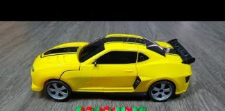 Xem Xe ô tô điều khiển từ xa BIẾN HÌNH siêu đẹp – Yellow Bumblebee Transformer Toys – Car Toys Kid