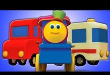 Xem Bob vận chuyển xe lửa  | Học hỏi Xe | Xe hơi cho trẻ em | Modes Of Transport | Bob Transport Train