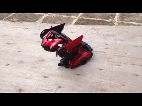 Xem Xe hơi biến hình Robot Transformers điều khiển từ xa – Xe Lamborghini