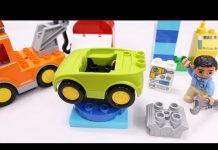 Xem Đồ chơi Lego Duplo Lắp ráp các loại xe p2 – Xe hơi xe tải cứu hộ cơ sở sửa chữa xe