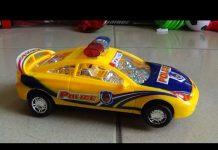 Xem Police car  toy Xe ô tô cảnh sát đồ chơi trẻ em chạy pin 경찰 자동차 장난감  警察の車のおもちゃ Kid Studio
