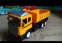 Xem Dump truck toy, xe ô tô tải đồ chơi trẻ em, Cars by Kid Studio