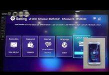 Xem EzCast USB xuất hình lên TV  từ điện thoại Android
