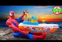 Xem 🚛 Người nhện bảo vệ các xe ô tô 🚛 đồ chơi trẻ em A820A Kid Studio 🚛
