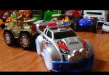 Xem Xe ô tô cảnh sát, xe tăng đồ chơi mô hình – Police car, tank toy