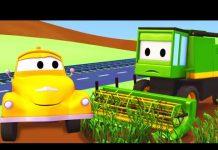 Xem Máy Gặt Và Tom – Chiếc xe tải kéo | Phim hoạt hình chủ đề xe hơi và xe tải xây dựng