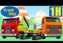 Xem Máy xúc, Tháp cẩu, Xe ben , Thành phố xe tải| hoạt hình về xe tải xây dựng dành cho thiếu nhi