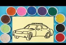 Xem TÔ MÀU TRANH CÁT XE HƠI – Đồ chơi trẻ em Chim Xinh – Learn colors with sand painting toys