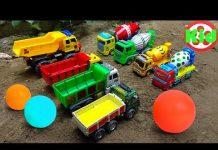 Xem 🚛 Xe ô tô tải, xe trộn bê tông cùng nhau đá bóng 🚛 đồ chơi trẻ em B719T Kid Studio 🚛