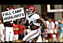 Video Alabama football fall camp highlights – Watch running backs Damien Harris and Josh Jacobs