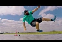 Video Slip and Slide Football Battle | Dude Perfect