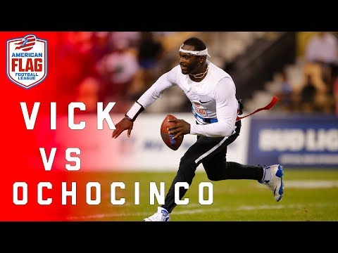 Video Flag Football Highlights Semifinals Game 2: Ochocinco takes on Michael Vick! | NFL