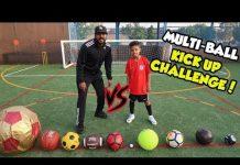 Video MULTI-BALL FOOTBALL CHALLENGE!! KICK UP EDITION!!
