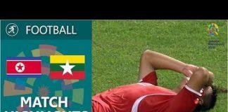 Video 18th Asian Games 2018. Football. DPR Korea – Myanmar – 1:1 Match highlights / 15.08.2018