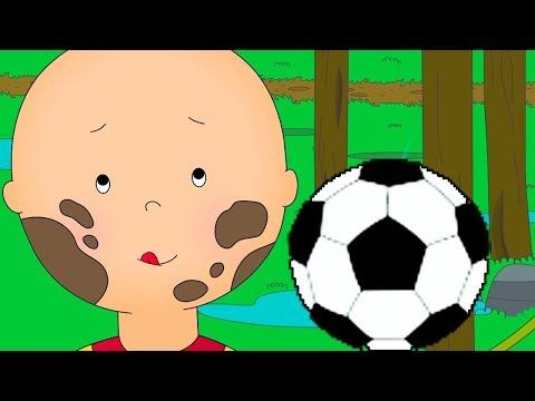 Video Caillou's Football game   Caillou soccer   Football cartoon   Full Episode   Cartoon movie 2018