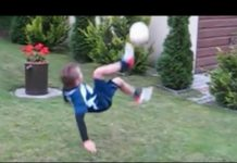 視頻 足球過人技 10歲小男孩 接班人克里斯蒂亞諾·羅納爾多