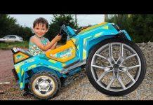 View Funny BABY Ride on Power Wheel car Щенячий патруль Видео для детей Funny Kids и машина Power Wheels