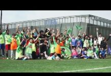 Video Special visitors support Football Connects project