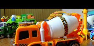 Xem Car toy – Xe ô tô trộn bê tông đồ chơi – Concrete mixer trucks – Family tradition song