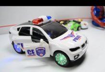 Xem ĐỒ CHƠI XE HƠI CẢNH SÁT VỪA CHẠY VỪA CHÁY ĐÈN CHO BÉ YÊU: POLICE CAR AUTO TOYS FOR KID BABY