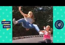 View TRY NOT TO LAUGH CHALLENGE – Epic Trampoline Fails Compilation April 2018   Funny Vines Videos