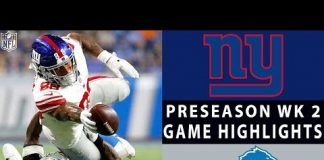 Video Giants vs. Lions Highlights | NFL 2018 Preseason Week 2