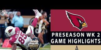 Video Cardinals vs. Saints Highlights | NFL 2018 Preseason Week 2