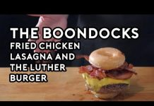 Xem Binging with Babish: Fried Chicken Lasagna & The Luther Burger from the Boondocks