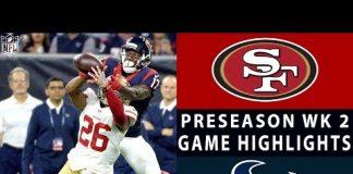 Video 49ers vs. Texans Highlights | NFL 2018 Preseason Week 2