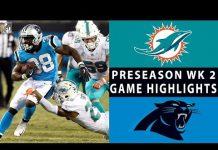 Video Dolphins vs. Panthers Highlights   NFL 2018 Preseason Week 2