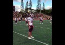 Video Amazing High School Football Pre Game Chant
