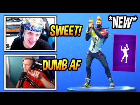 "View NINJA & TFUE REACT TO *NEW* ""LLAMA BELL"" EMOTE/DANCE! *EPIC* Fortnite FUNNY & SAVAGE Moments"
