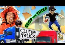 见 TRY 2 STOP ME! HIGH SPEED TRUCK JUMPING PARKOUR CHASE (FGTEEV CLUSTER TRUCK Funny Gameplay Skit)