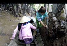 Xem Cô gái lực sĩ đẩy xuồng trên bùn – Hương vị đồng quê – Bến Tre – Miền Tây