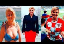 Video The most beautiful president in the world a football fan President Croatian