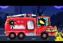 Xem Xe cứu hỏa đáng sợ | Nhà để xe ô tô | Xe đáng sợ | Halloween Video | Cartoon Car Garage | Fire Truck