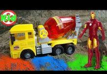Xem 🚛 Học màu sắc cùng xe ô tô trộn bê tông 🚛 đồ chơi trẻ em H500T Kid Studio 🚛
