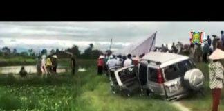 Xem Tai nạn giao thông giữa tàu SE8 với xe ô tô 7 chỗ tại Nghệ An | HANOITV