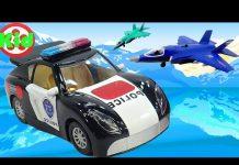 Xem Xe ô tô cảnh sát và máy bay chiến đấu – đồ chơi trẻ em B254S Kid Studio