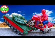 Xem 🚛 Xe tăng tinh nghịch cùng người nhện 🚛 đồ chơi trẻ em B839D Kid Studio 🚛