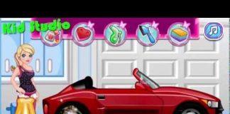 Xem Bé rửa xe ô tô đồ chơi mô hình hoạt hình – Car wash for kids