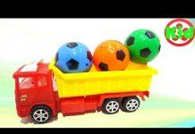 Xem Xe ô tô tải đồ chơi chở các bạn bóng phát sáng dump truck carry balls light 776 Kid Studio