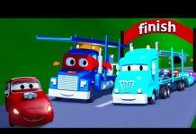 Xem Siêu xe Carl và tàu chở ô tô thành phố xe | Phim hoạt hình về xe dành cho thiếu nhi