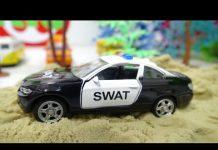 Xem Đồ chơi xe ô tô cảnh sát siêu anh hùng bắt tội phạm đua xe police car chase 751 Kid Studio