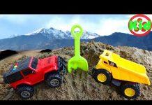 Xem 🚛 Học màu sắc cùng ô tô tải và xe jeep 🚛 đồ chơi trẻ em H514C Kid Studio 🚛