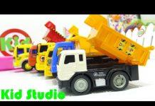 Xem Xe ô tô tải đồ chơi trẻ em chở các con vật đi chơi 605 Kid Studio