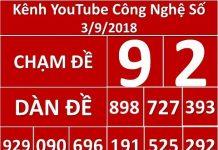soi cầu lô đề MB 3/9/2018, Công Nghệ Số 3/9/ 2018