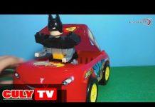 Xem Đồ chơi xe tải ô tô | Xe  hơi chở Batman lắp ráp xếp hình | Car carry Batman big lego